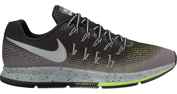 Nike Air Zoom Pegasus 33 Shield Running Shoe Men Black/Metallic Silver-Dark Grey-Stealth